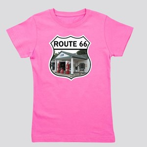Route 66 - Amblers Texaco Gas Station - Girl's Tee