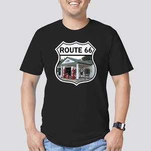 Route 66 - Amblers Tex Men's Fitted T-Shirt (dark)