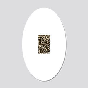 Leopard 20x12 Oval Wall Decal