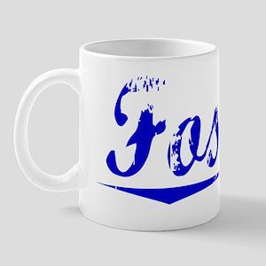 Fossett, Blue, Aged Mug