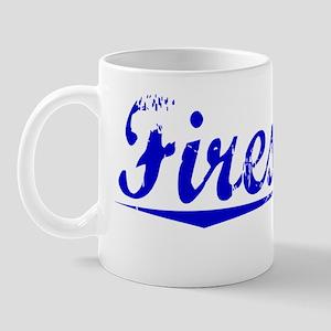 Firestone, Blue, Aged Mug