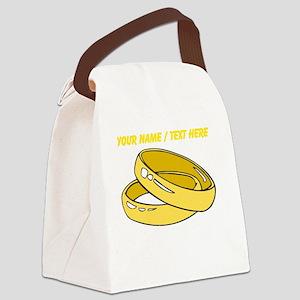 Custom Wedding Rings Canvas Lunch Bag