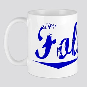 Folsom, Blue, Aged Mug