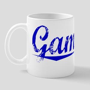 Gamache, Blue, Aged Mug