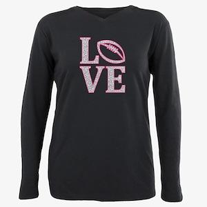 LOVE FOOTBALL GLITTER PINK T-Shirt