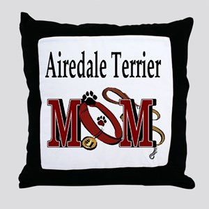 Airedale Terrier Mom Throw Pillow