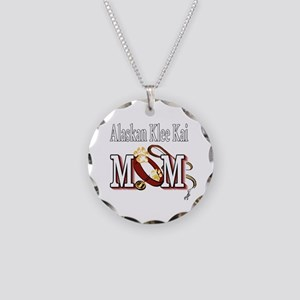 alaskan klee kai mom darks Necklace Circle Charm