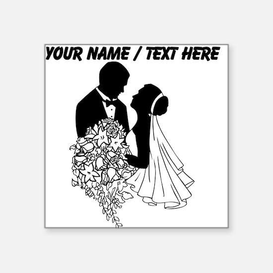 Custom Bride And Groom Sticker