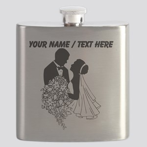 Custom Bride And Groom Flask