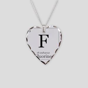 Elements - 9 Fluorine Necklace Heart Charm