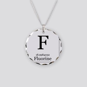 Elements - 9 Fluorine Necklace Circle Charm