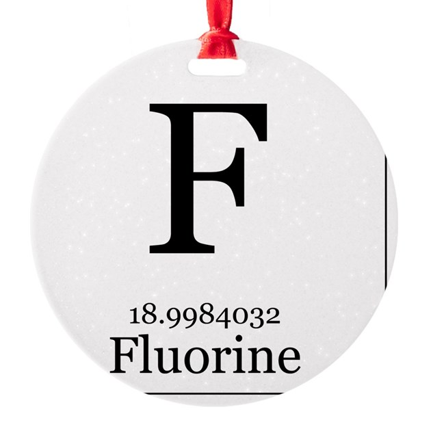Elements 9 Fluorine Ornament By Admincp5733573