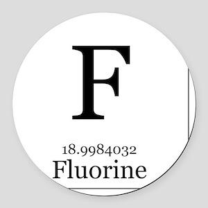 Elements - 9 Fluorine Round Car Magnet