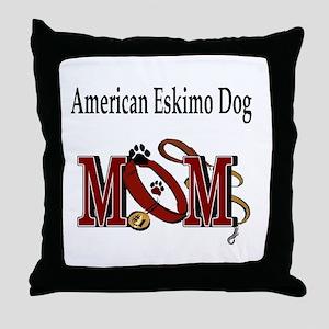 American Eskimo Mom Throw Pillow