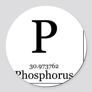 Periodic table phosphorus car accessories cafepress elements 15 phosphorus round car magnet urtaz Image collections