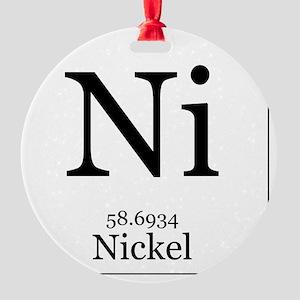 Elements - 28 Nickel Round Ornament