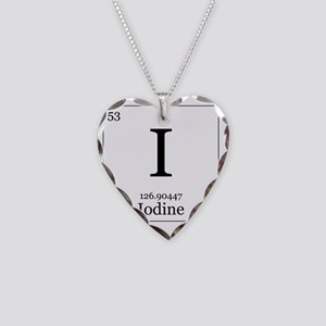 Elements - 53 Iodine Necklace Heart Charm