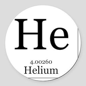 Periodic table helium car accessories cafepress elements 2 helium round car magnet urtaz Image collections