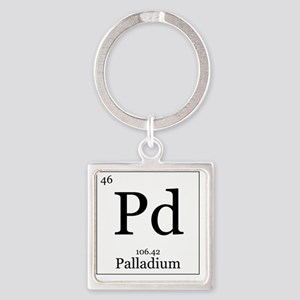 Elements - 46 Palladium Square Keychain