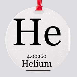 Elements - 2 Helium Round Ornament