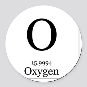 Oxygen in periodic table car accessories cafepress elements 8 oxygen round car magnet urtaz Images