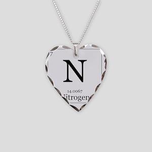 Elements - 7 Nitrogen Necklace Heart Charm