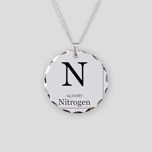 Elements - 7 Nitrogen Necklace Circle Charm