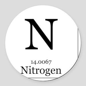 Elements - 7 Nitrogen Round Car Magnet