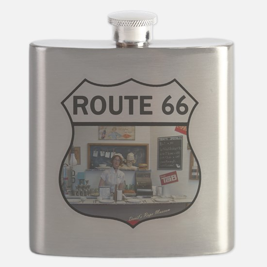Route 66 - Devils Rope Museum - Texas Flask