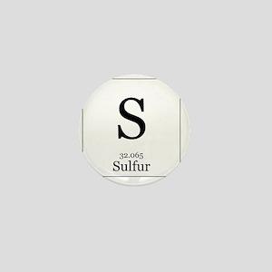 Elements - 16 Sulfur Mini Button