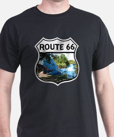Discover History - Route 66 - Blue Wh T-Shirt