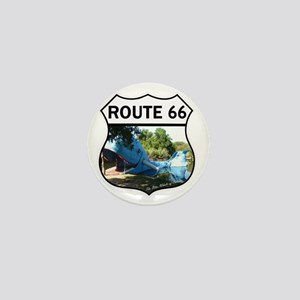 Discover History - Route 66 - Blue Wha Mini Button