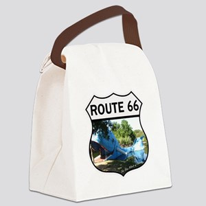 Discover History - Route 66 - Blu Canvas Lunch Bag