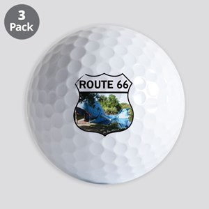 Discover History - Route 66 - Blue Whal Golf Balls