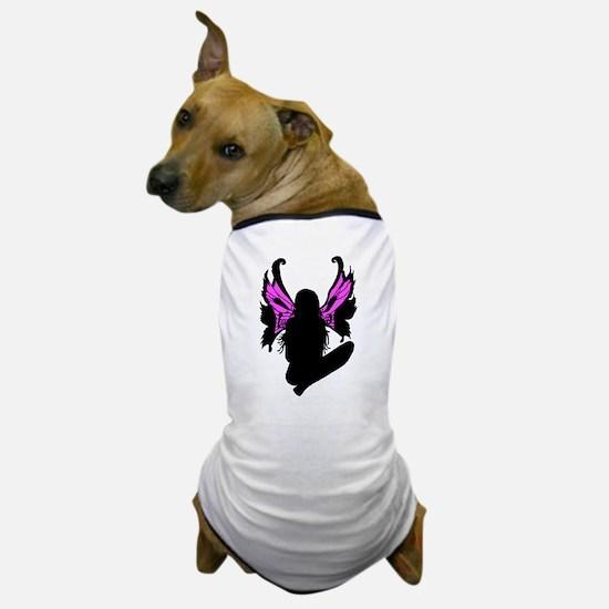 SKULL FAIRY SILHOUETTE Dog T-Shirt