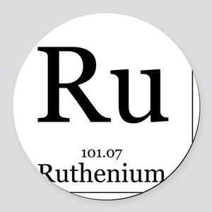 Elements - 44 Ruthenium Round Car Magnet