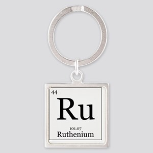 Elements - 44 Ruthenium Square Keychain