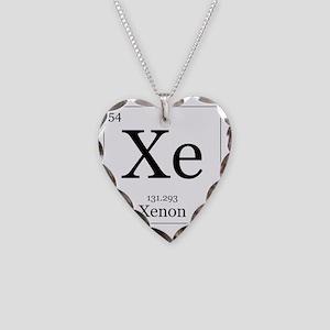 Elements - 54 Xenon Necklace Heart Charm