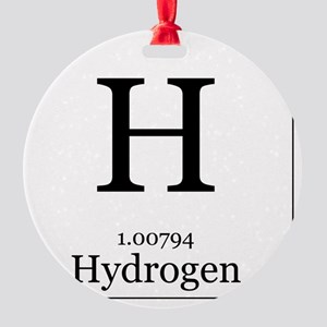 Elements - 1 Hydrogen Round Ornament