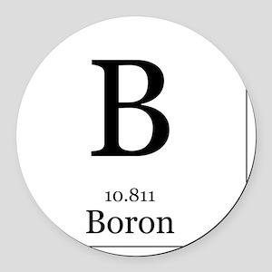 Elements - 5 Boron Round Car Magnet