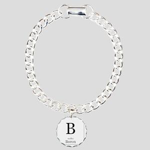 Elements - 5 Boron Charm Bracelet, One Charm