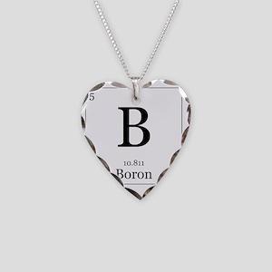 Elements - 5 Boron Necklace Heart Charm