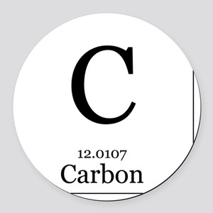 elements 6 carbon round car magnet - Periodic Table Carbon