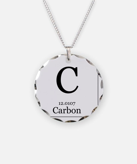 Chemistry science teacher periodic table elements jewelry elements 6 carbon necklace urtaz Images