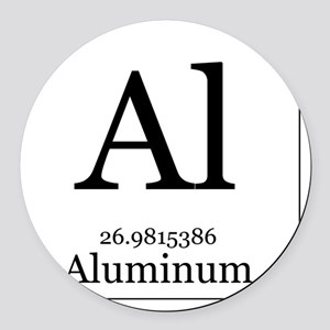 Elements - 13 Aluminum Round Car Magnet