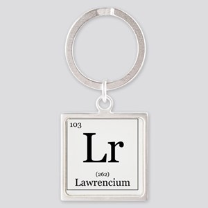 Elements - 103 Lawrencium Square Keychain