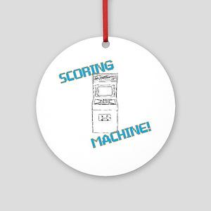Scoring Machine Round Ornament
