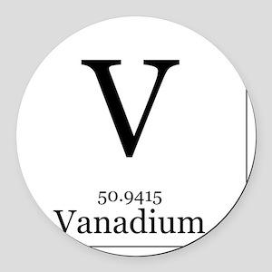 Periodic table vanadium car accessories cafepress elements 23 vanadium round car magnet urtaz Choice Image