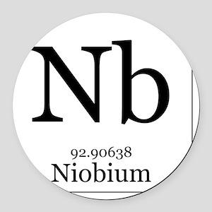 Elements - 41 Niobium Round Car Magnet