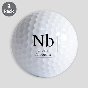 Elements - 41 Niobium Golf Balls